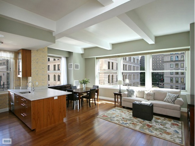 <p>A 2-bedroom overlooking Trinity Church at 88 Greenwich St. listed for $1.385 million by Brown Harris Stevens.</p> <h2 class=
