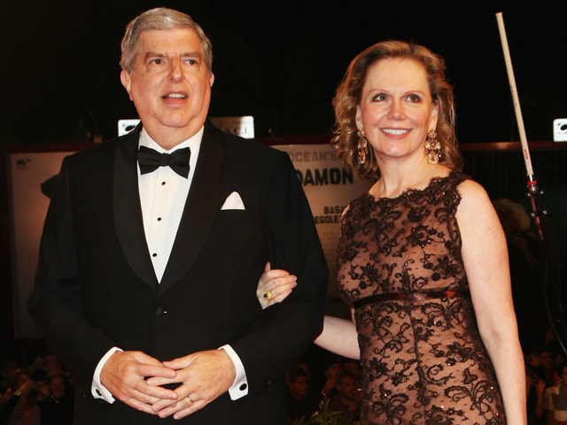 <p>Marvin Hamlisch and his wife, Terre Blair, attend the Venice Film Festival in 2009. The composer died on Aug. 6, 2012. His will stipulates that all his awards should go to his wife, regardless of whether she was still married to him at the time of his death.</p>