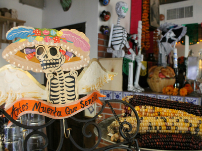<p>Day of the Dead decorations.</p>