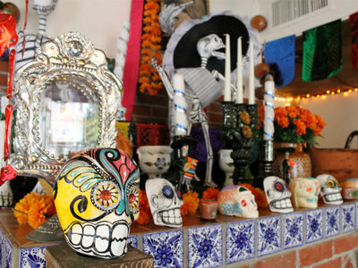 <p>A Day of the Dead shrine.</p>
