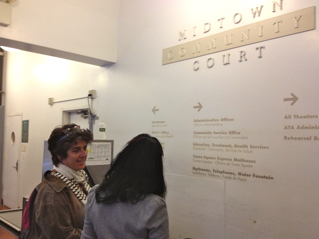 <p>Lawyer Dru Carey, and her 16-year-old client, on their first day in the youth pilot program.</p>
