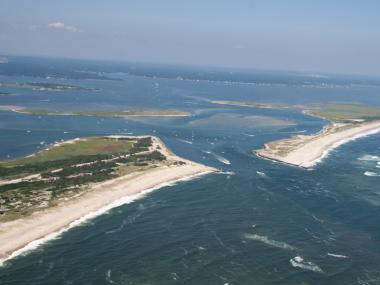 Police said two Queens men died Saturday Oct. 20, 2012, when their plan plummeted into Moriches Inlet on Long Island.