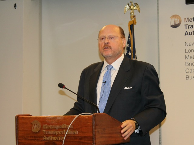 <p>Joseph Lhota, chairman of the Metropolitan Transportation Authority.</p>