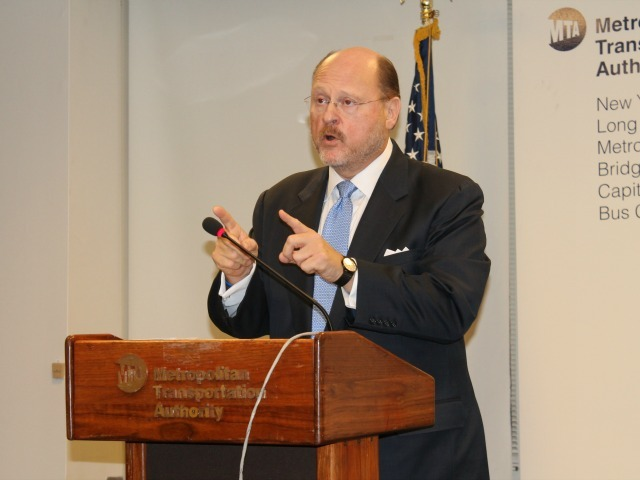 <p>As chairman of the MTA, Joseph Lhota has been negotiating details of a fare hike proposal.</p>