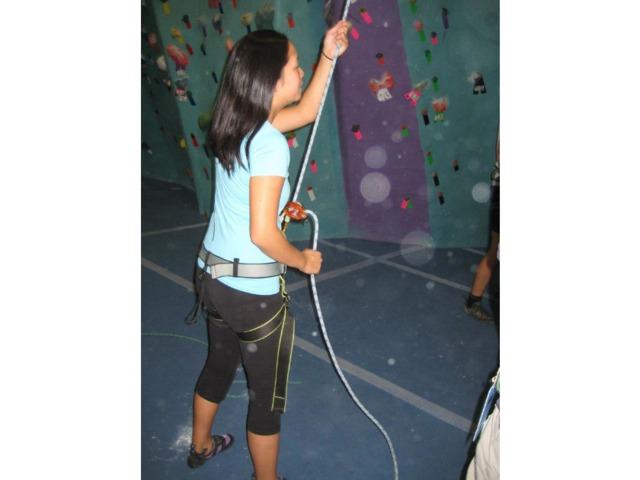 <p>The New School has rock-climbing activities for students.</p>