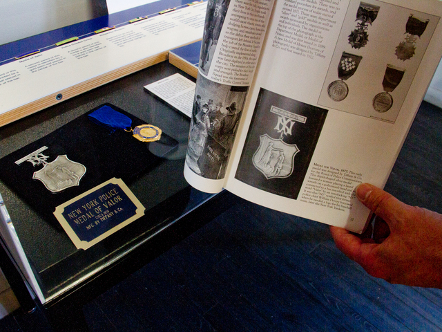 <p>A photo of The Medal of Valor from 1877, which is displayed in the New York City Police Museum, is featured in the new book, &quot;New York City Police.&quot;&nbsp;</p>