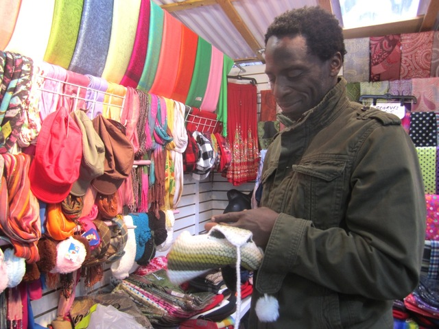 <p>NoHo Market customer Esh Vanterpool shopped for gifts for his family Oct. 9, 2012.</p>