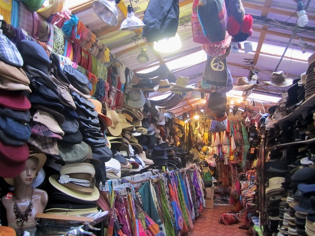 <p>The stalls of NoHo Market are packed full of low-price clothing and accessories.</p>