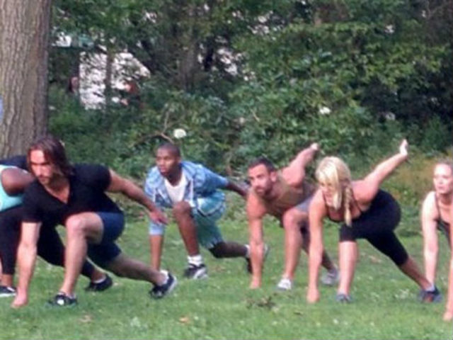 <p>Adam Rosante&nbsp;teaches a bootcamp class this summer in Central Park. Rosante hopes to take the bootcamp indoors this winter and eventually expand to other boroughs.</p>