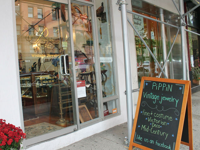 Pippin Vintage Jewelry is on Columbus Avenue between 74th and 75th Streets.