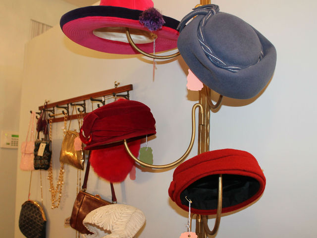 Vintage hats at Pippin on Columbus Avenue.
