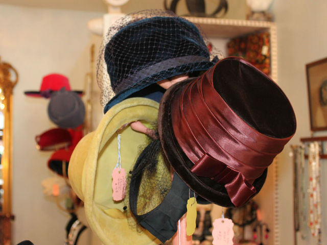 <p>Vintage hats at Pippin on Columbus Avenue.</p>