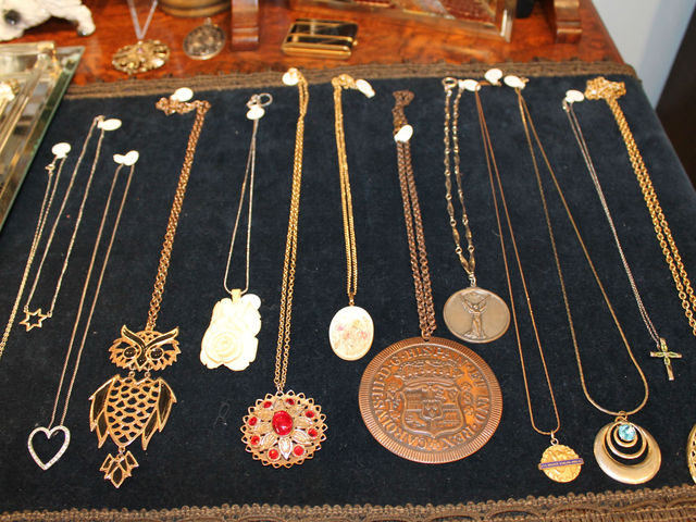 <p>Necklaces on display at Pippin.&nbsp;</p>