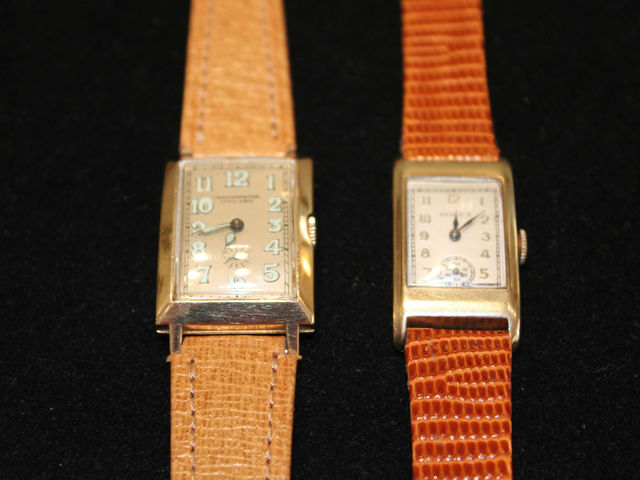 <p>A Movado watch from the 1930s for $935 and a 1940s gold Rolex watch for $1965,</p>