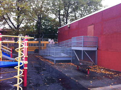 <p>Though there is a ramp attached to the school, local pols say the school still fails to meet Americans with Disabilities Act standards.</p>