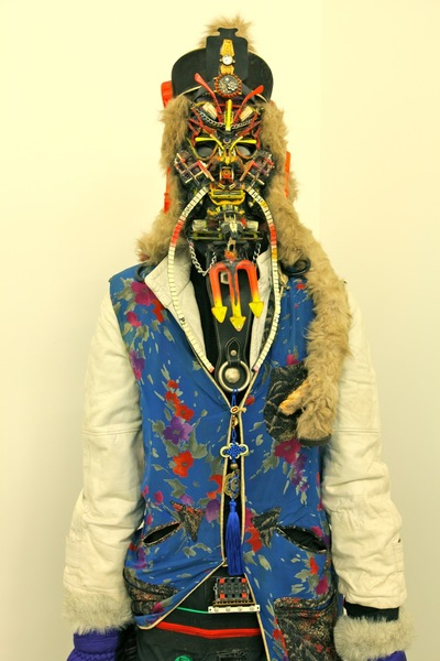 <p>Before his 2010 death, Rammellzee was known for wearing his elaborate masks in the streets of Manhattan.</p>