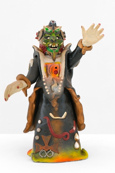 <p>The Rammellzee figurine &#39;AlphaPositive&#39; will be on display at the Children&#39;s Museum of the Arts Oct. 4, 2012 through Feb. 3, 2013.</p>