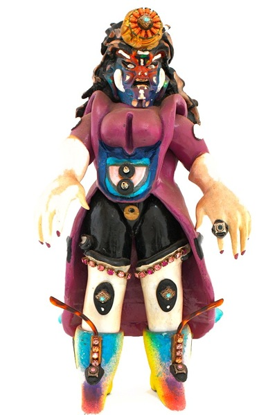 <p>This figurine by Rammellzee is called &#39;Vain the Insane.&#39;</p>