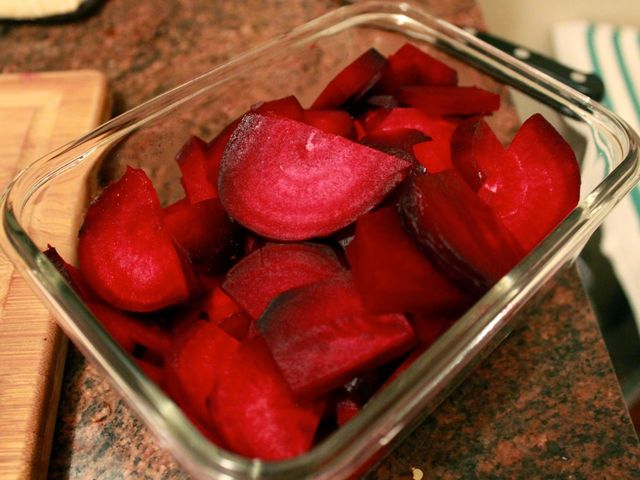 <p>Red beets are a good source of fiber, Vitamin C and folate.</p>