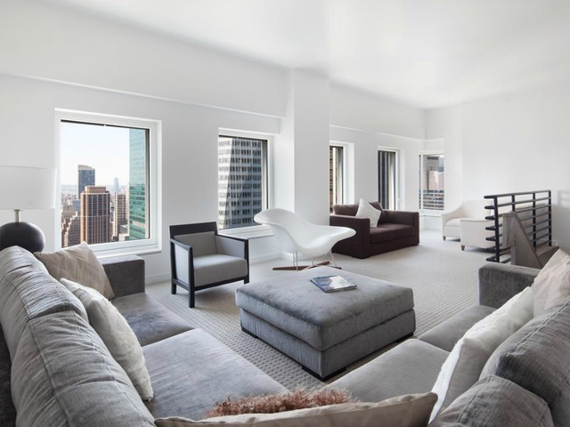 <p>This five-bedroom penthouse duplex in CASSA NY CONDOMINIUMS, at 70 West 45th St., is listed by Prudential Douglas Elliman for $35,000 a month.</p>