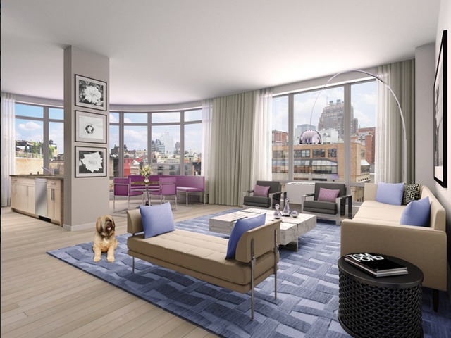 <p>A luxury 1-bedroom from Manhattan Skyline Management at 55 Thompson St. in SoHo is listed for $9,995 a month.</p>