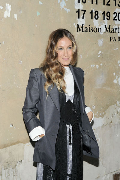 <p>Sarah Jessica Parker at the lunch of Maison Martin Margiela for H&amp;M at 5 Beekman in the Financial District, Tuesday, October 23, 2012.</p>