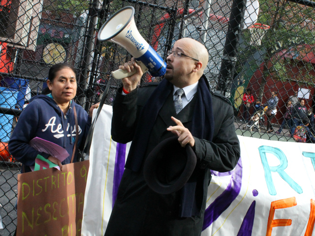 <p>State Senator Gustavo Rivera attended the march.</p>