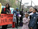 <p>Parents and teachers protested P.S. 51&#39;s potential split into P.S. 11 and the Clinton School in 2011. The conflict and subsequent move to the Upper East Side united many parents in the P.S. 51 community.</p>
