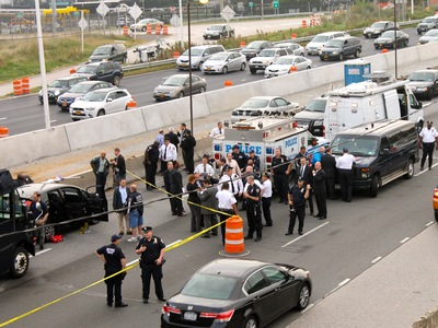 <p>Cops shot and killed a man on the Grand Central Parkway on Oct. 4, 2012.</p>