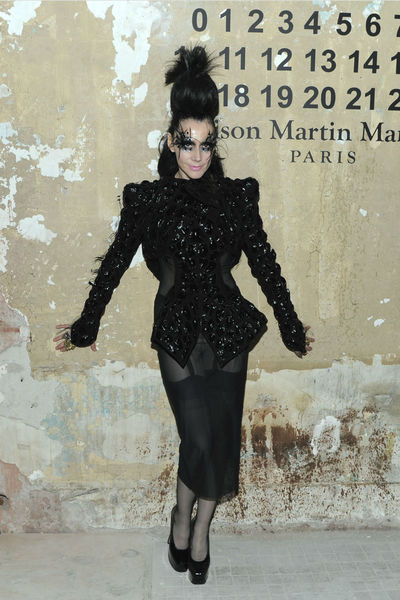 <p>Nightlife impresario Susanne Bartsch at the lunch of Maison Martin Margiela for H&amp;M at 5 Beekman in the Financial District, Tuesday, October 23, 2012.</p>