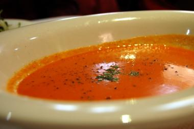 Classic tomato soup is great served cold on a summer evening or warm on a fall day.