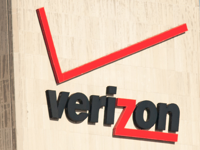<p>Verizon Logo on a building in Manhattan on Tuesday October 16th, 2012.</p>