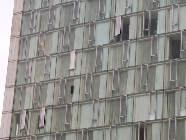 <p>One blp could be found on the north side of The Standard Hotel Oct. 23, 2012.</p>