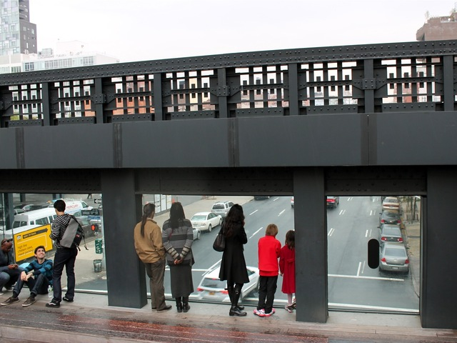 <p>Another blp by Richard Artschwager can be found on a part of the High Line that overlooks 10th Avenue, DNAinfo found on Oct. 23, 2012. The small piece of art is located on the window on the right.</p>