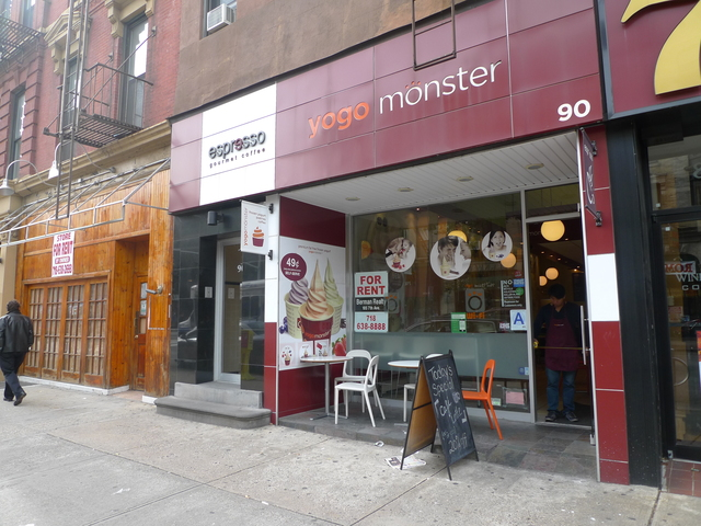 <p>Yogo Monster on Seventh Avenue and Berkeley Place in Park Slope is one of many frozen yogurt shops in the neighborhood.</p>