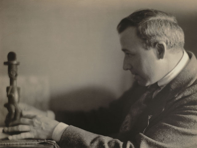 <p>This portrait of Max Weber, taken by Clara E. Sipprell, shows the cubist artist in 1916.</p>