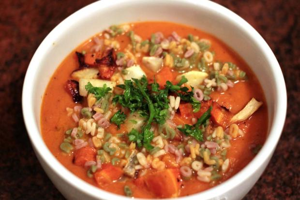 RECIPE: Alphabet Soup with Roasted Winter Vegetables - New York City ...