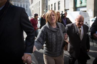 Anna Gristina leaves Manhattan Supreme Court November 20, 2012.