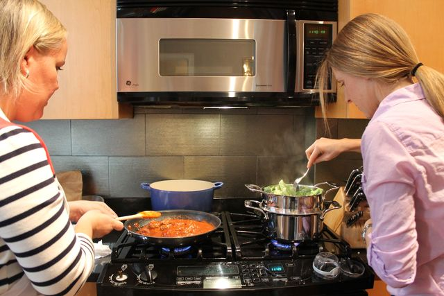 <p>The two moms love to cook together, but they said the meals created for your child don&#39;t have to be complicated.</p>