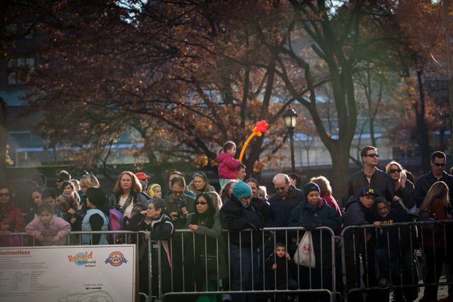 <p>Adults and kids alike enjoyed the Macy&#39;s Thanksgiving Day Parade balloon inflation Nov. 21, 2012.</p>