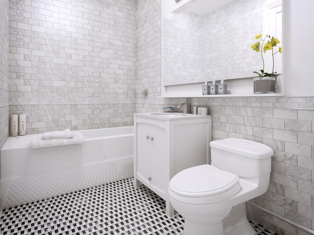 <p>A bathroom at Park Union, a new condo building at 910 Union Street in Park Slope where apartments are priced between $799,000 and $2,295,000.</p>