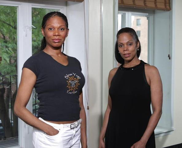 <p>Bikram Yoga-East Harlem co-owners and sisters Stephanie Pope Caffey (left) and Jennifer Pope grew up across the street from their studio in the Taft Houses. They say they opened the business because they wanted to give back and improve the health of Harlem residents.</p>