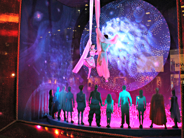 <p>The 2012 holiday windows at Bloomingdale&#39;s are all inspired by the upcoming 3D film &quot;Cirque de Soleil: Worlds Away.&quot;</p>