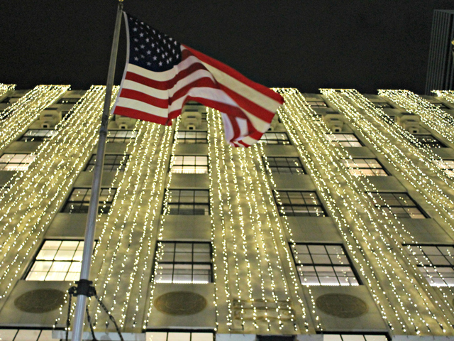 <p>Apart from the windows, Bloomingdale&#39;s on East 59th Street and Lexington Avenue was aglow with holiday lights on Tuesday, Nov. 13, 2012.</p>
