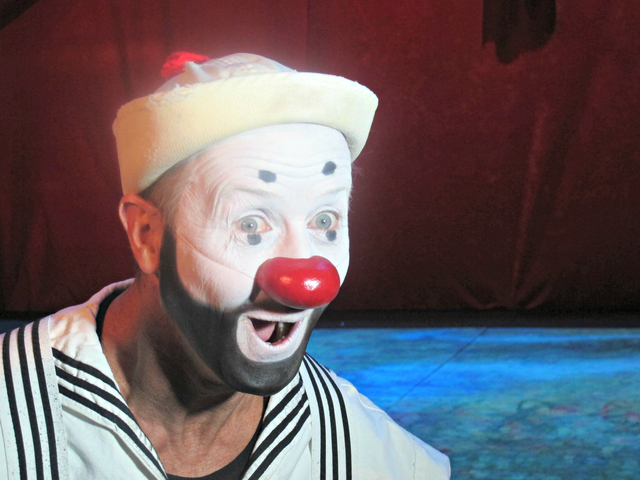 <p>A Cirque de Soleil clown kicked off the show.</p>