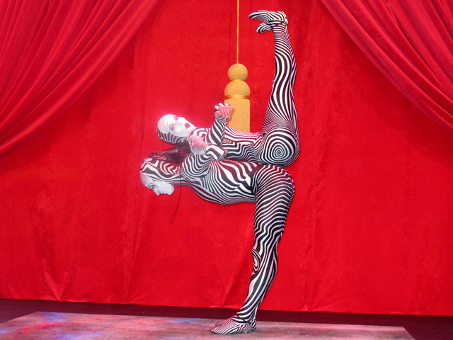 <p>Cirque de Soleil performers in front of Bloomingdale&#39;s as part of the holiday window unveiling on Tuesday, Nov. 13, 2012.</p>
