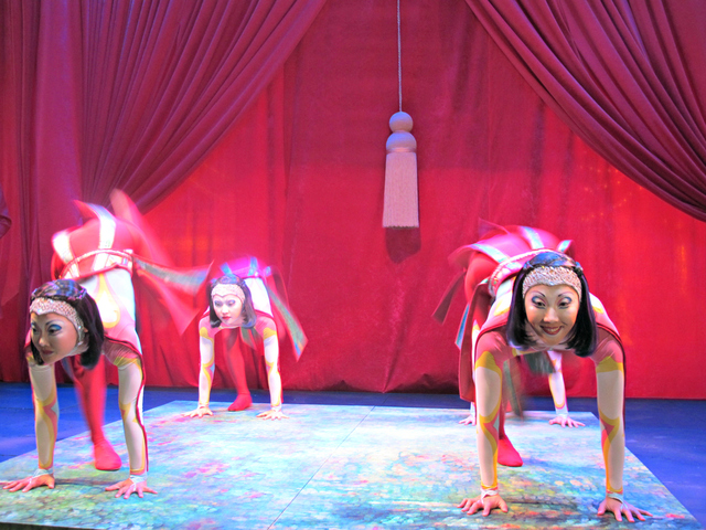 <p>Four contortionists also took to the stage on Tuesday, Nov. 13, 2012.</p>