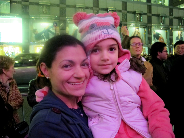 <p>Catherine Sarno brought her 4-year-old daughter, Zoe, to see the Cirque de Soleil performance on Tuesday, Nov. 13, 2012.</p>