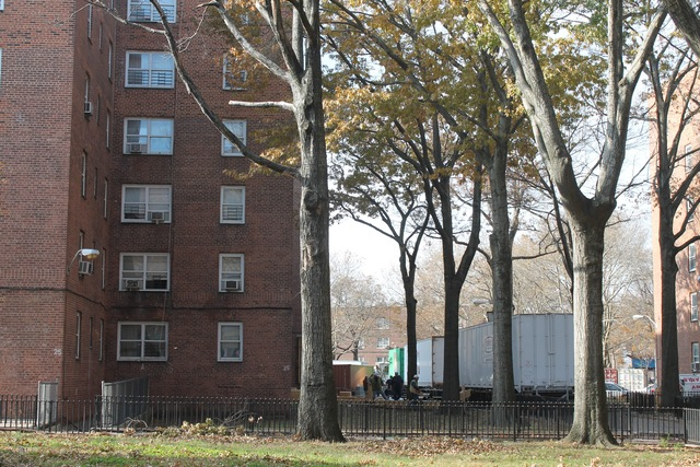 <p>Contractors were setting up enormous, truck-mounted boilers and generators outside the Red Hook Houses Monday afternoon, Nov. 12, 2012.</p>
