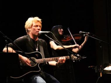 Rocker Jon Bon Jovi played a benefit show to help Poly Prep families and faculty affected by Sandy.